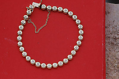 Superbe Bracelet Tennis / Or  18 K - 750  / Diamants
