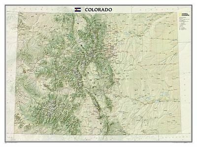 Colorado, Laminated by National Geographic Maps Not Folded Book (English)