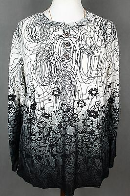 NEW WOMEN  TUNIC BLOUSE size 18/20  TOP  LONG SLEEVE  LADIES    6749