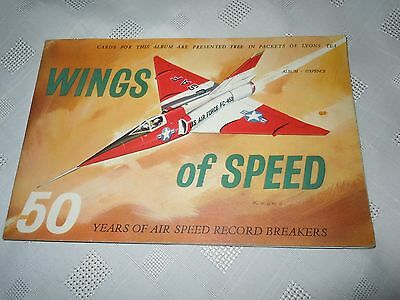 WINGS OF SPEED Lyons Tea Cards Album Issued 1961, complete set.