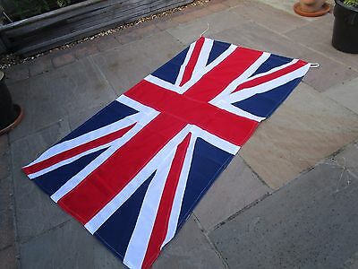 """Vintage Ex British Military UNION JACK FLAG BRITISH MADE approx 6ft x 3ft 1"""""""