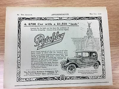 RARE 1922 PYTCHLEY Autocar Co Vintage Small B&W Car Advert