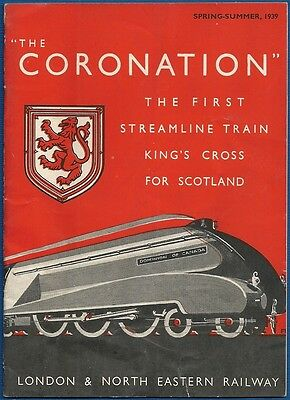 "LNER Booklet - ""The Coronation"" Spring/Summer 1939"