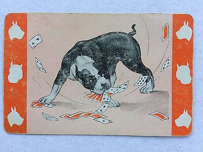 Vintage Swap / Playing Card - Dog with Playing Cards in Mouth - Silhouettes