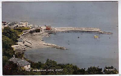 NEW QUAY HARBOUR - Cardiganshire - Wales - 1962 used postcard
