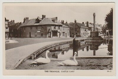 Somerset postcard - The Triangle, Castle Cary - RP