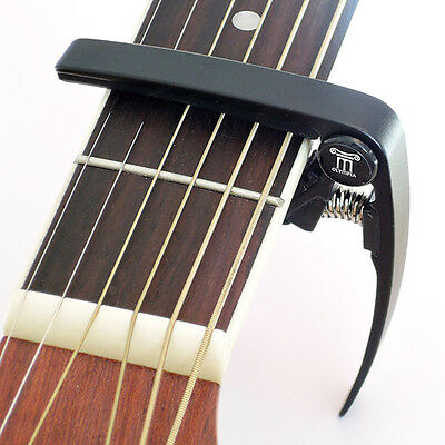 Olympia Capo – Quick Release for Acoustic & Electric Guitar Accessory - Black