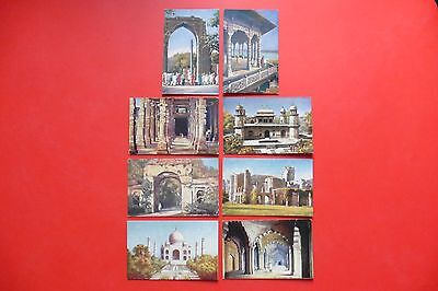 Collection.8 Vintage Artist Postcards.india.tuck Oilettes.