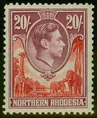Northern Rhodesia 1938 20s Carmine-Red & Rose-Purple SG45 Fine MNH