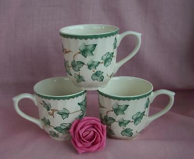 BHS COUNTRY VINE ( IVY) TEA CUPS x 3 - CUPS ONLY - NO SAUCERS