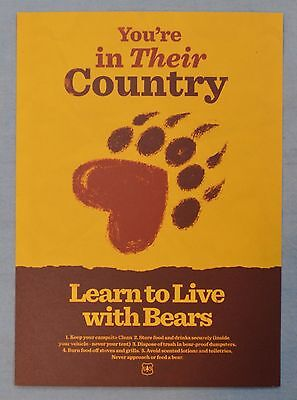 FIREWATCH Olly Moss Learn To Live With Bears MINI ART PRINT 5x7 Poster Postcard