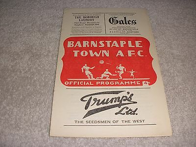 Barnstaple Town v Torquay United Reserves  19/9/56.  Western League Division 1.