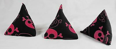 3 SKULL Juggling Bean Bags Triangular Catching Practice Play PE Goth