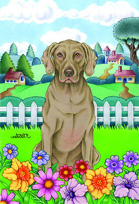 Garden Indoor/Outdoor Spring Flag (TP) - Weimaraner 730571