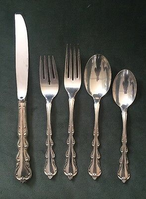 Vintage International Sterling Silver 5pc Place Flatware Setting Angelique