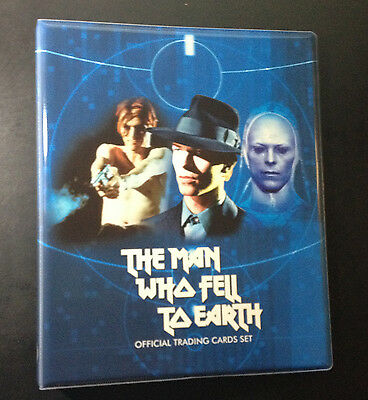David Bowie The Man Who Fell to Earth official binder + base trading cards set