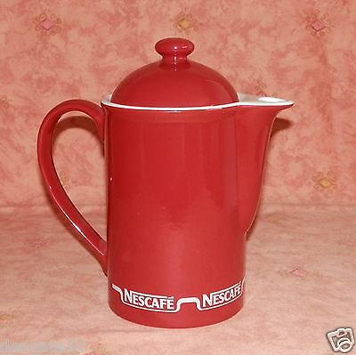 NESCAFE ORIGINAL 1980's COFFEE POT WITH LID - LOVELY & CLEAN NO CHIPS ETC (D10)