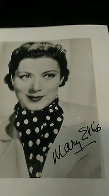 Autograph 10x8 photo signed by Mary Ellis