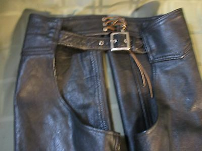 Small Sized Leather Chaps Motorcycle Chaps (Heavy duty Made)