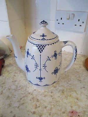 Furnivals Denmark Coffee Pot (Blue and white}