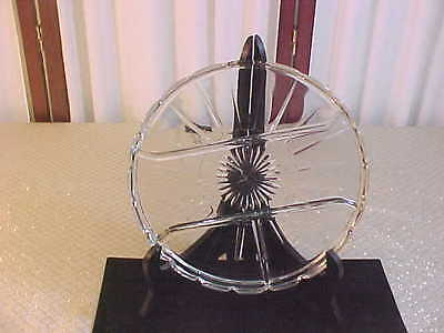 Exquisite 4 Sectioned Clear Glass Round Decorative Divided Serving Platter