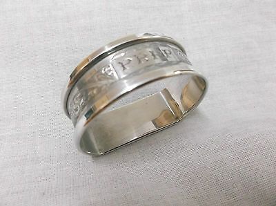 "A Vintage   Sterling Silver "" D Style""  Napkin Ring   London  1946"