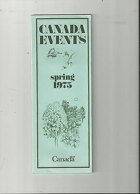 Canada Events Spring 1975 Office Of Tourism Brochure