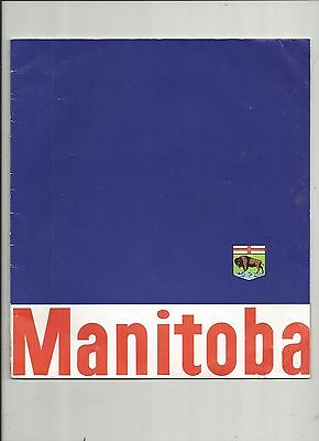 MAGNIFICENT MANITOBA CANADA'S VACATIONLAND 1960's TRAVEL BROCHURE