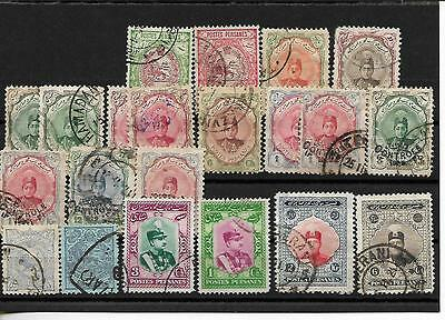 19??-Persia - Lot 21 Stamps -Old Colection -No Gum