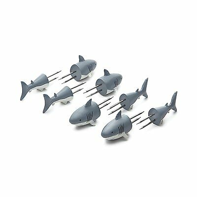 Outset Shark Corn Holders with Stainless Steel Prongs - Set of 8