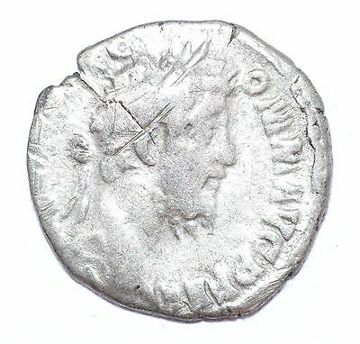 AUTHENTIC COMMODUS ROMAN COIN - AR Silver Denarius, Rv. Liberalitas - A710
