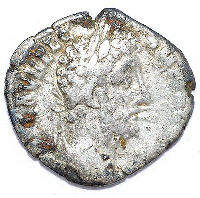 AUTHENTIC COMMODUS ROMAN COIN Silver Denarius, RV Liberalitas - A715