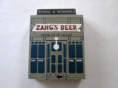 1989 The Cat's Meow Wild West Series Zang's Beer Drink Em Up Saloon 581