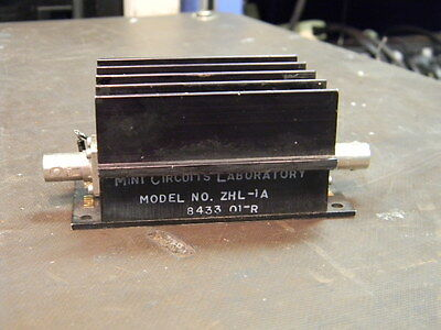 Mini Circuits Model ZHL-1A 2-500Mhz Amplifier W/ BNC Connectors TESTED