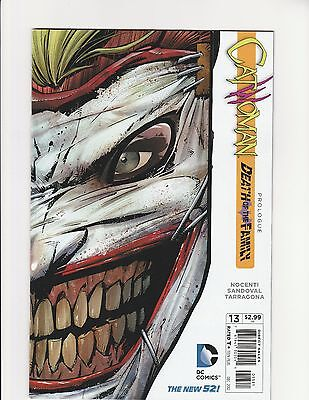 "Catwoman Issue #13 ""Death Of The Family"" Joker Mask NM"
