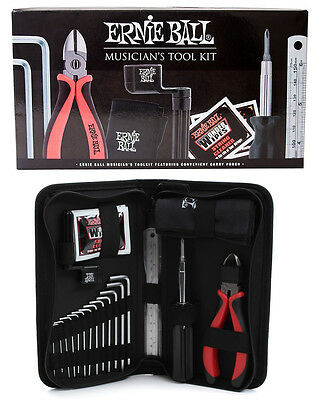 Ernie Ball 4114 Musician's Tool Kit String Cutter Hex Wrenches /  Carry Pouch