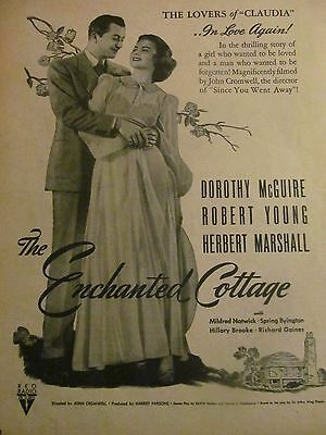 The Enchanted Cottage, Dorothy McGuire, Robert Young, Vintage Promotional Ad