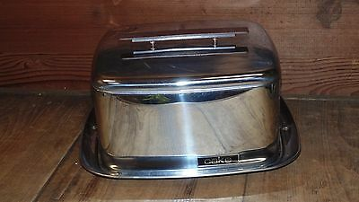 Vintage Chrome Cake Carrier Lincoln Beautyware