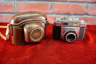 ZEISS Ikon Contina 35mm Camera w/ Pantar 1:2.8 f=45mm Lens + Case