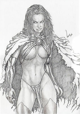 GOBLIN QUEEN by RAÍ THOM-ART PINUP Drawing Original