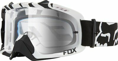Fox Racing Air Defence MX Motocross Goggles CLOSEOUT Black Zebra/Clear