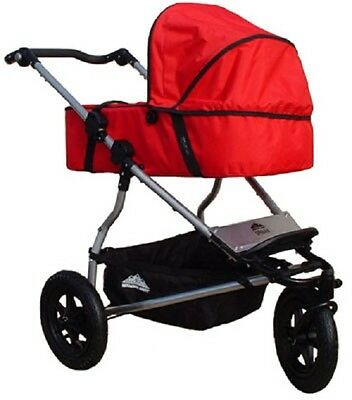 Mt Buggy Carrycot in Red for 2008 to 2014 Urban Jungle & Terrain Strollers New!!