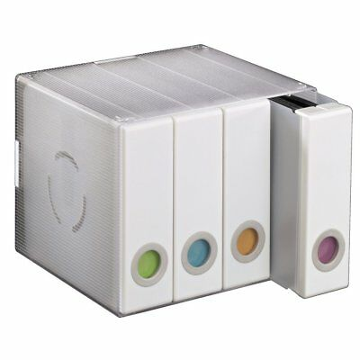 CD DVD Blu-ray Storage Album Box Case Holder System for 96 - White