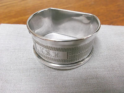 "A    Sterling Silver "" D Style""  Napkin Ring     Birmingham  1962"
