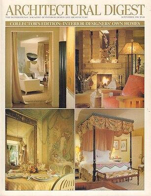 Architectural Digest September 1996 Interior Designers Own Homes 021517DBE3