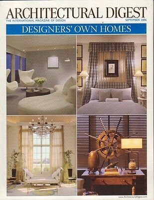 Architectural Digest September 2006 Designers' Own Homes  021517DBE2