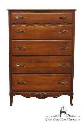 1950's Antique Solid Cherry French Provincial 35″ Chest of Drawers