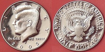 Proof 2005S US Kennedy 50 Cents From Mint's Set