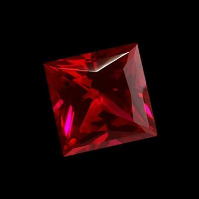 1 carat SI princess cut red loose diamond sparkling loose     FG12032