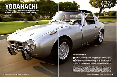 1965 Toyota Sports 800  ~  Nice 6-Page Article / Ad